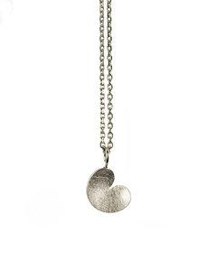 hanger pompeblêd zilver